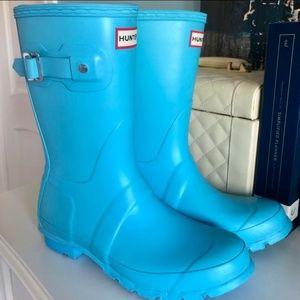 Hunter Blue Short Rainboots